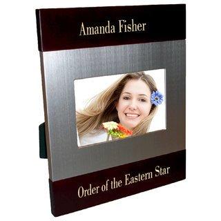 Order Of Eastern Star Brush Silver Frame