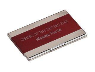Order Of Eastern Star Business Card Holder