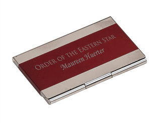 Order Of Eastern Star Business Card Holder