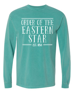 Order Of Eastern Star Comfort Colors Custom Long Sleeve T-Shirt