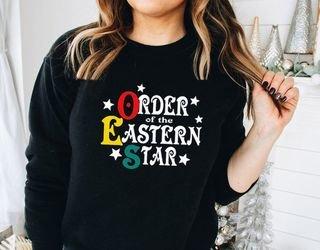 Order Of Eastern Star Comfort Colors Old School Custom Crew