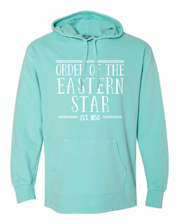 Order Of Eastern Star Comfort Colors Terry Scuba Neck Custom Hooded Pullover
