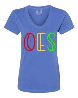 Order Of Eastern Star Comfort Colors V-Neck T-Shirt