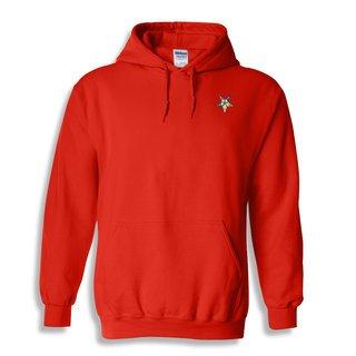 DISCOUNT-Order Of Eastern Star  Crest - Shield Emblem Hooded Sweatshirt