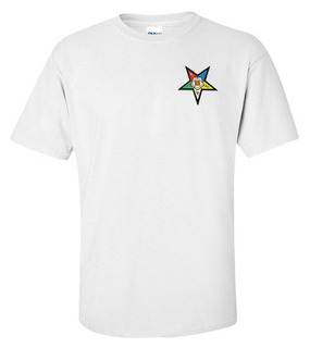 DISCOUNT-Order Of Eastern Star  Crest - Shield Patch  T-Shirt