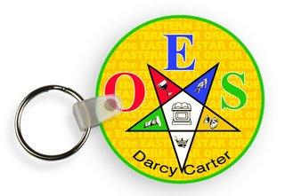 Order Of Eastern Star Custom Mascot Keychains