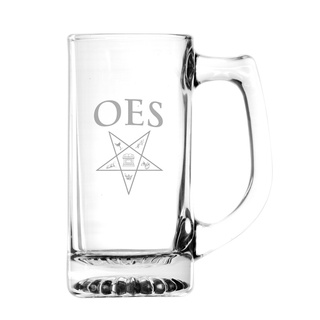 Order Of Eastern Star Glass Engraved Mug