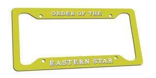 Order Of Eastern Star License Plate Frame