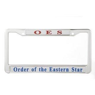 Order Of Eastern Star Metal License Plate Frame