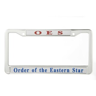 Order Of Eastern Star Metal License Plate Frame