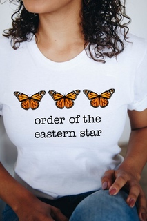 Order Of Eastern Star Monarch Butterfly Short Sleeve T-Shirt - Comfort Colors