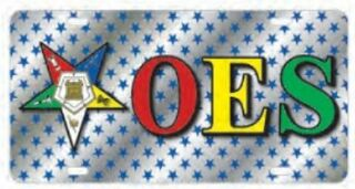 Order Of Eastern Star OES D9 Crest License Plates