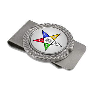 Order Of Eastern Star Pewter Money Clip