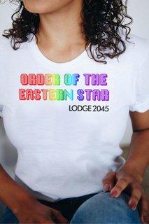 Order Of Eastern Star Pixel Tee - Comfort Colors