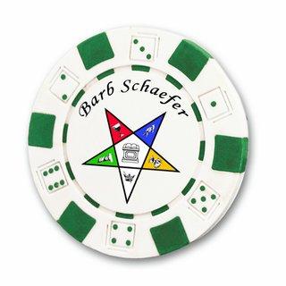 Order Of Eastern Star Poker Chips
