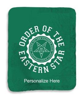 Order Of Eastern Star Seal Sherpa Lap Blanket