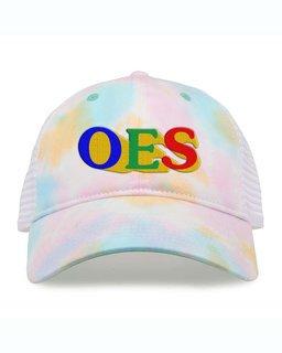 Order Of Eastern Star Sorority Sorbet Tie Dyed Twill Hat