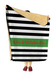 Order Of Eastern Star Stripes Sherpa Lap Blanket