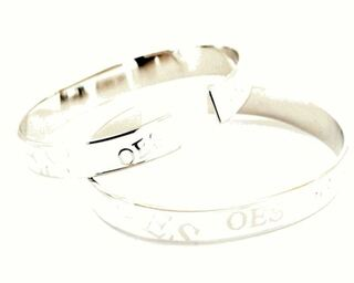 Order of the Eastern Star OES Bangle Bracelet with White Enamel