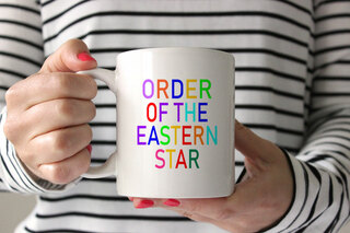 Order of the Eastern Star Rainbow Coffee Mug