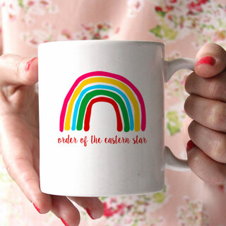 Order of the Eastern Star Rainbow Coffee Mug