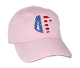 Patriotic Delta Gamma Letter Hat