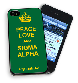 Peace Love & Sigma Alpha Phone Cover