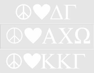Peace & Love Sorority Sticker