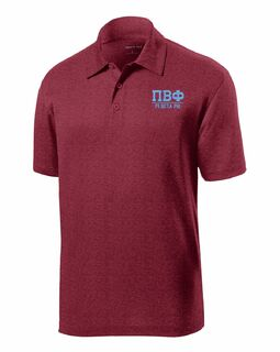 Personalized Greek Letter Contender Polo