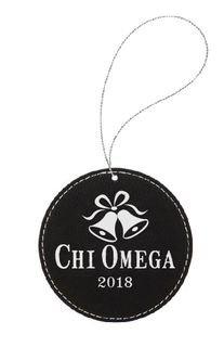 Pewter Greek Crest Ornament