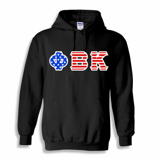 Phi Beta Kappa Greek Letter American Flag Hoodie