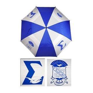 """Phi Beta Sigma 30"""" Wind Resistant Auto Open Umbrella"""