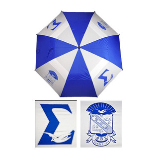 "Phi Beta Sigma 30"" Wind Resistant Auto Open Umbrella"