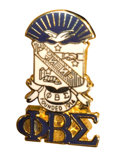 Phi Beta Sigma 3D Color Shield w Letters Pins