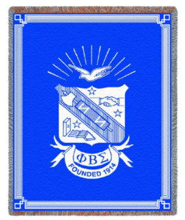 Phi Beta Sigma Afghan Blanket Throw