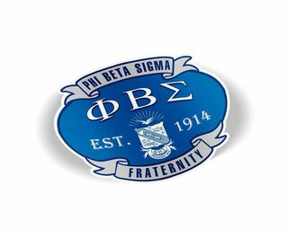Phi Beta Sigma Banner Crest - Shield Decal