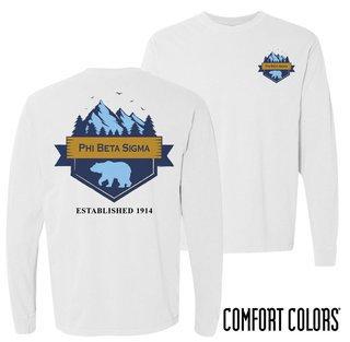 Phi Beta Sigma Big Bear Long Sleeve T-shirt - Comfort Colors