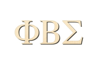 Phi Beta Sigma Big Wooden Greek Letters