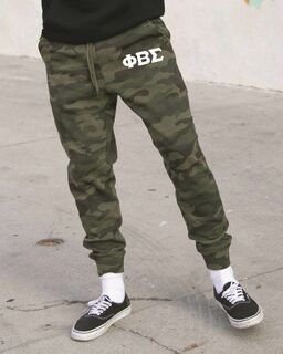 Phi Beta Sigma Camo Fleece Pants