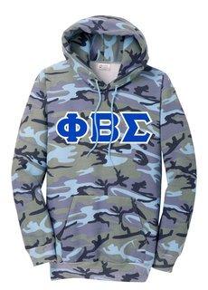 DISCOUNT-Phi Beta Sigma Camo Pullover Hooded Sweatshirt