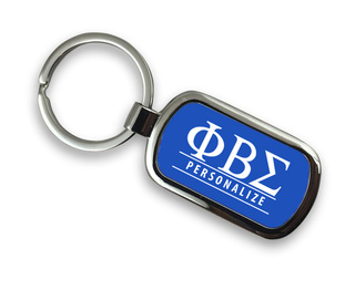 Phi Beta Sigma Chrome Custom Keychain