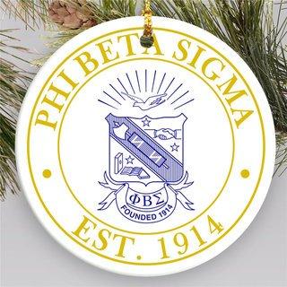 Phi Beta Sigma Circle Crest Round Ornaments