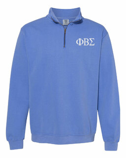 Phi Beta Sigma Comfort Colors Garment-Dyed Quarter Zip Sweatshirt