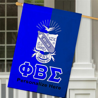 Phi Beta Sigma Crest House Flag