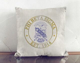 Phi Beta Sigma Crest Linen Pillow