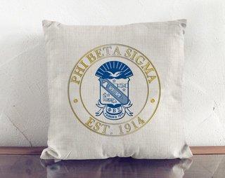 Phi Beta Sigma Crest Linen Pillow
