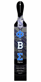 Phi Beta Sigma Custom Full Color Paddle