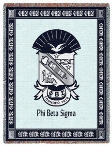 Phi Beta Sigma Deluxe Afghan Blanket