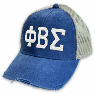 Phi Beta Sigma Distressed Trucker Hat