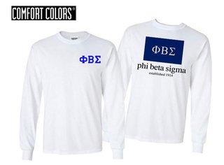 Phi Beta Sigma Flag Long Sleeve T-shirt - Comfort Colors